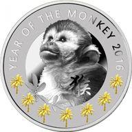 Year of the Monkey Lunar Calendar Proof Silver Coin 1$ Niue 2016