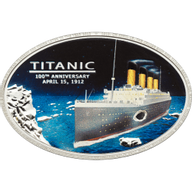 Titanic 1912-2012 Proof Silver Coin 5$ Cook Islands 2012