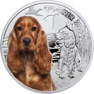 Cocker Spaniel Man's Best Friends Proof Silver Coin 1$ Niue 2014