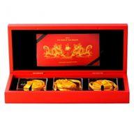 Rwanda 2012 3 x 500 Francs Three Dimensional Dragon Coin Set BU Silver