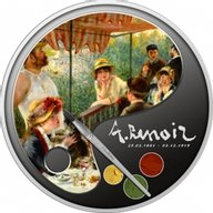 Luncheon of the Boating Party 100th Anniversary of Death - Renoir Proof Silver Coin 1$ Niue 2019