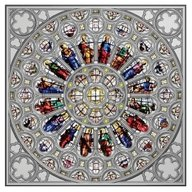 Rose Window of Westminster Abbey 150 g Proof Silver Coin 15$ Solomon Islands 2021
