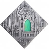 Gothic Art The Art that Changed the World  Antique finish Silver Coin 1$ Niue 2014