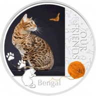 Niue 2012 1$ Bengal Our Friends Kitten Proof Silver Coin