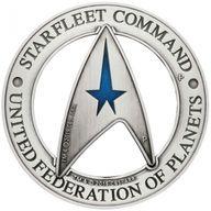 Starfleet Command Emblem Star Trek 3 oz Pure Silver Holey Dollar & Delta Coin Set 1$ & 2$ Tuvalu 2019