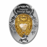Peter The Great Imperial Faberge Eggs Proof Silver Coin 1$ Niue 2015