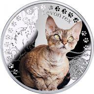 Devon Rex Man's Best Friends – Cats Proof Silver Coin 1$ Niue 2016