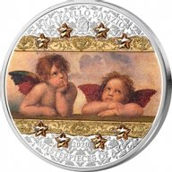 Raffaello Sanzio Masterpieces of Art 3 oz Proof Silver Coin 20$ Cook Islands 2020