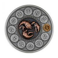 Cancer Zodiac Signs 1oz Antique finish Silver Coin 1$ Niue 2020