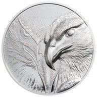 Majestic Eagle Silver 1 oz Proof Silver Coin Mongolia 2020 500 togrog