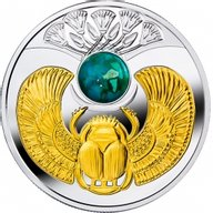 Niue 2016 1$ Turquoise Scarab 17.5 g Proof Silver Coin