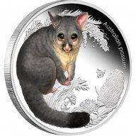 Australia 2013 50 cents Possum Australian Bush Babies II 1/2oz Proof Silver Coin