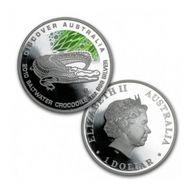 Discover Australia - Crocodile Colored Proof Silver Coin 1$ Australia 2010