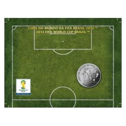 Brazil 2014 2 Reais - Pass 2014 FIFA WORLD CUP Brazil Cu/Ni  Coin