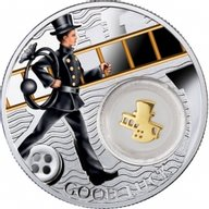Chimney Sweep Symbols of Luck 1/2 Oz Proof Silver Coin 1$ Niue 2014