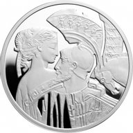 Paris & Helen Famouse Love Stories Proof Silver Coin 1$ Niue 2010