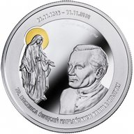 Karol Wojtyła - 70th Anniversary of holy orders 1oz Proof Silver Coin 1000 Francs Cameroon 2016