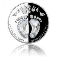 Newborn Baby 1 oz Proof Silver Coin 2$ Niue 2019