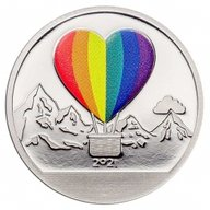 Love Globe Proof-like Silver Coin 1$ Cook Islands 2021
