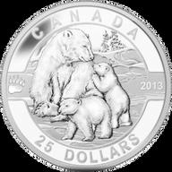 Canada 2013 25$ The Polar Bear 2013 O Canada Proof Silver Coin