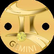 Niue 2017 5$ Zodiac Signs Pendant Gemini Proof Gold Coin