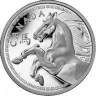 Canada 2014 250$ Year of the Horse  Kilo Proof Silver Coin