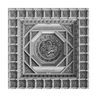 The Forbidden City Caisson Ceiling 100g  Antique finish Silver Coin 10$ Samoa 2020