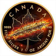 Maple Leaf Apocalypse II 1oz Black Ruthenium BU Silver Coin 5$ Canada 2017