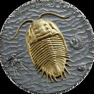 Niue 2016 2$ Evolution of Earth Trilobites 2 oz Antique Finish Silver Coin