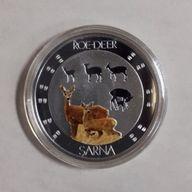 Symbols of Nature - Roe-Deer Sarna Proof Silver Coin 10 g 1$ Niue 2015