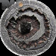 Niue 2016 1$  POPIGAI Meteorite Crater in Russia 1oz Antique finish Silver Coin