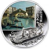 SOS. Venice – End or beginning ?  - Ponte Rialto  Proof Silver Coin  2$ Niue 2016