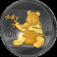 Panda Golden Enigma Edition 2017 1 oz BU Silver Coin 10 Yuan China 2017