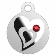 Heart Small Treasures Proof Silver Pendant Coin 100 Francs Cameroon 2020