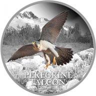 Niue 2013 2$ Peregrine Falcon  Birds of Prey Proof Silver Coin