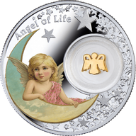 Niue 2016 1$  Angel of Life Angels  14.14 g  Proof Silver Coin