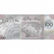 Year of the Pig Note Lunar Year Collection Proof-like Silver Coin 100 togrog Mongolia 2019