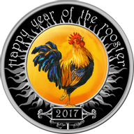 Macedonia 2017 100 Denars Wind Spinner Rooster Lunar Year Of The Rooster Proof Silver Coin
