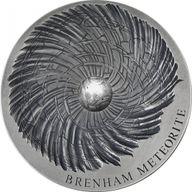 Brenham Meteorite Meteorite Art 5 oz Antique finish Silver Coin 5000 Francs CFA Republic of Chad 2016