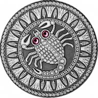 Belarus 2009 20 rubles Scorpio UNC Silver Coin