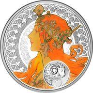 Niue 2011 1$ Aries A. Mucha Zodiac Proof Silver Coin