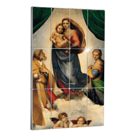 "Niue 2014 12 x 5$ Raffaello's ""Sistine Madonna"" Giant Art Proof Silver Set"