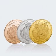 Lion Shades of Gold 3 x 0.5g Proof-like Gold Set 3 x 10$ Solomon Islands 2020