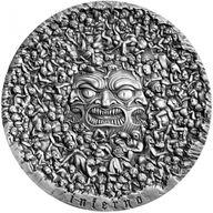 The Divine Comedy - Inferno Dante Alighieri 700th Anniversary 5 oz Antique finish Silver Coin 5000 Francs CFA Cameroon 2020