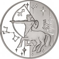 Ukraine 2007 5 Hryvnia's Saggitarius Proof Silver Coin