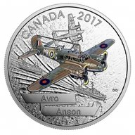 Canada 2017 20$ Aircraft 2nd WW Avro Ansen Proof Silver Coin