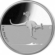 Australia 2013 1$ Kangaroo in Outback 1 oz F15 Privy Proof Silver Coin