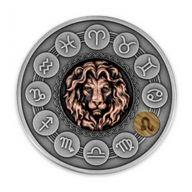 Leo Zodiac Signs 1oz Antique finish Silver Coin 1$ Niue 2020