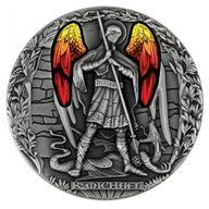 Archangel Michael Archangels 2 oz Antique finish Silver Coin 2000 Francs Cameroon 2020
