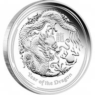 Year of the Dragon Proof Silver Coin 1$ Australia 2012